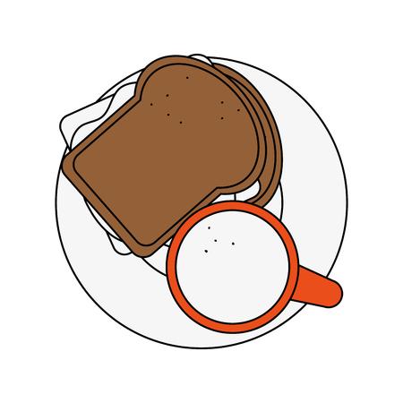 Delicious sandwich breakfast icon vector illustration graphic design
