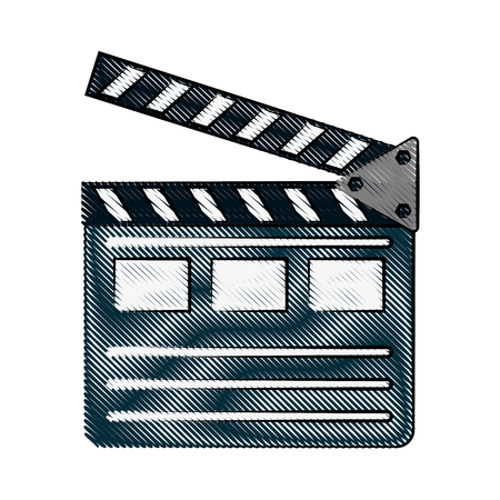 clapperboard cinema icon image vector illustration design Illustration