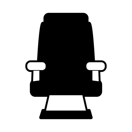 theater seat icon image vector illustration design  black and white