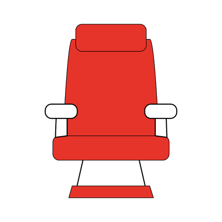 theater seat icon image vector illustration design  orange and white