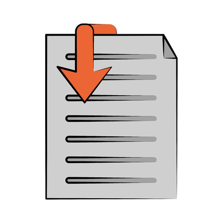 css: document download icon image vector illustration design