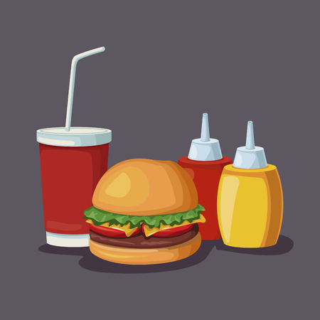 Burger fast food icon vector illustration graphic design
