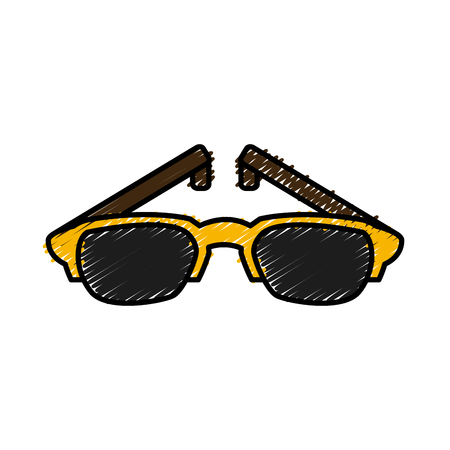 Nerd glasses isolated icon vector illustration graphic design