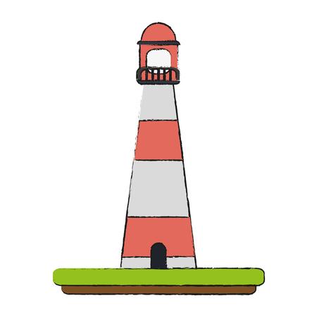 lighthouse nautical icon image vector illustration design