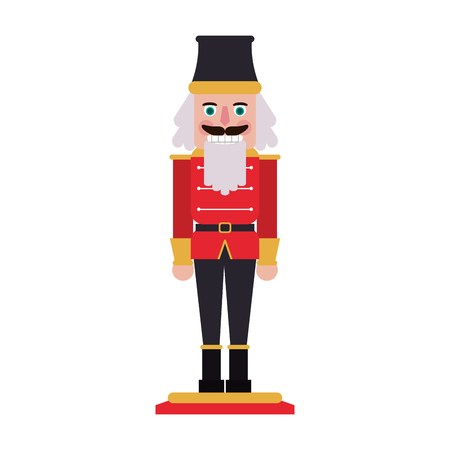 nutcracker christmas related icon image vector illustration design