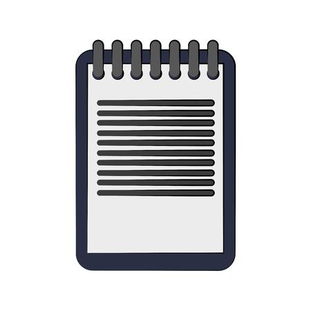 blocco note con progettazione dell'illustrazione di vettore di immagine dell'icona delle linee
