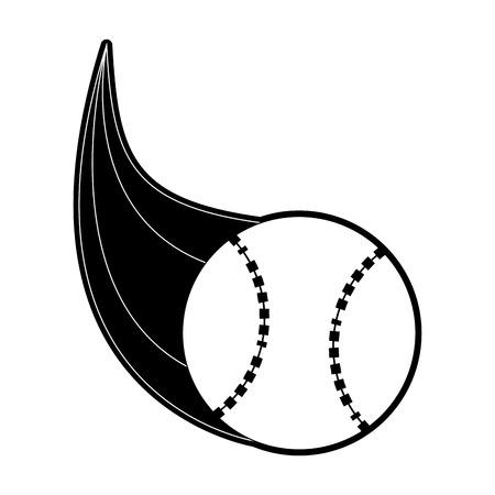 ball baseball related icon image vector illustration design  black and white Illustration