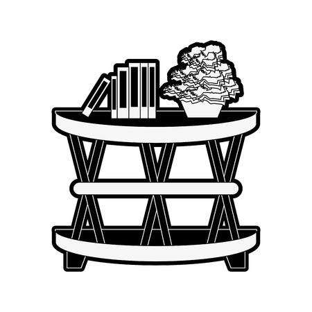 accent cage table furniture icon image vector illustration design  black and white