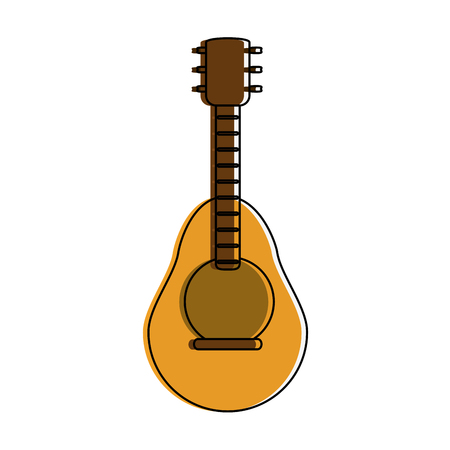 guitar music instrument icon image vector illustration design