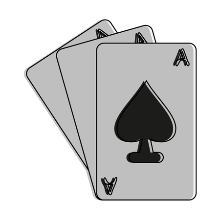Ace Of Spades Cards Icon Image Vector Illustration Design Royalty