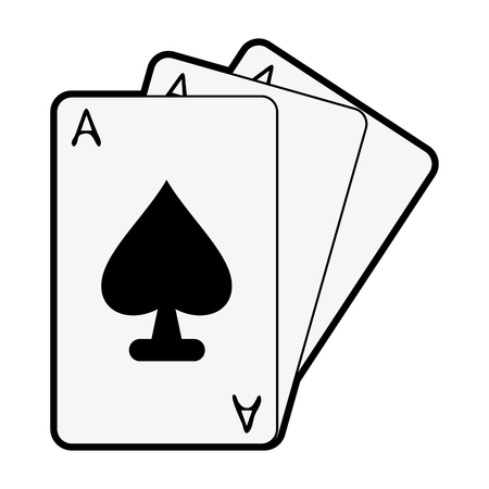 ace of spades cards icon image vector illustration design  black and white
