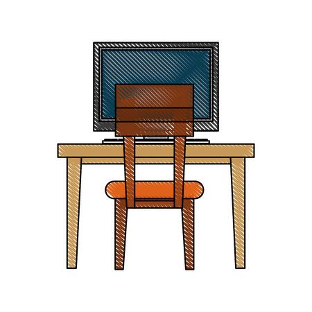 lounge chair: desk computer chair furniture icon image vector illustration design Illustration