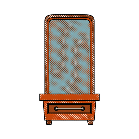 vanity furniture icon image vector illustration design Illustration