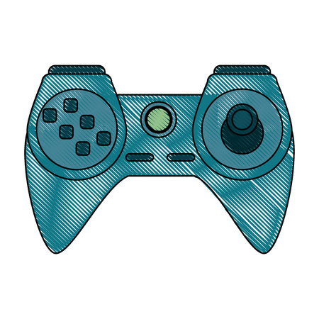 obsession: video game controller icon image vector illustration design Illustration