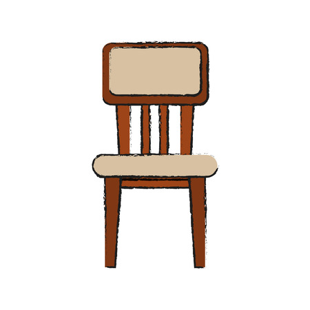 chair furniture icon image vector illustration design Illustration