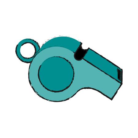 Blaas fluit pictogram afbeelding vector illustratie ontwerp Vector Illustratie