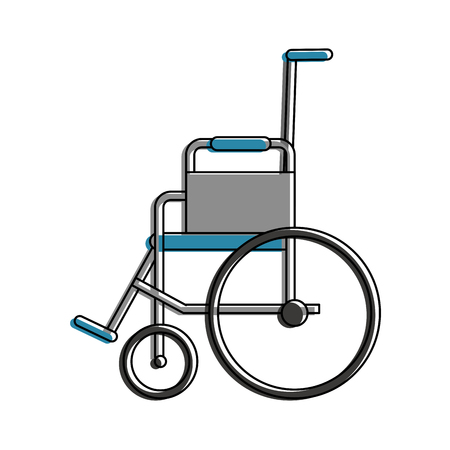 insured: wheelchair sideview healthcare related icon image vector illustration design Illustration