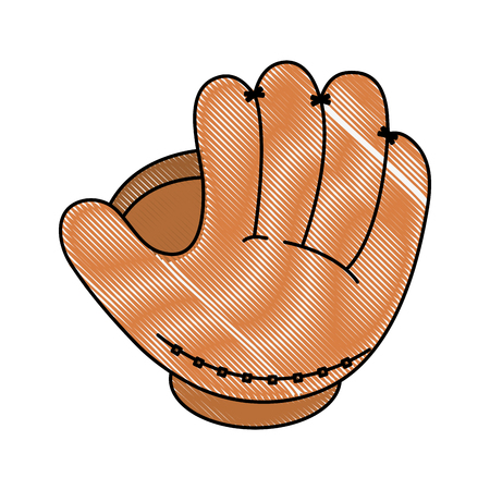 glove baseball related icon image vector illustration design