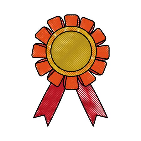 medal prize icon image vector illustration design Illustration