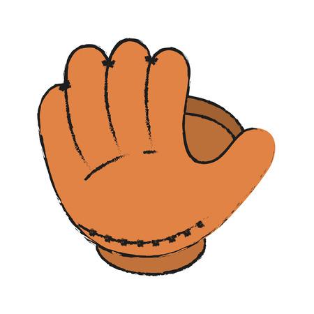 glove baseball related icon image vector illustration design
