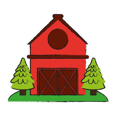 barn wood: barn house or home icon image vector illustration design