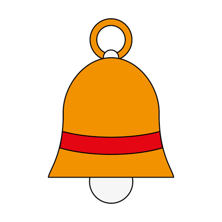 bell with ribbon bow icon image vector illustration design Illustration