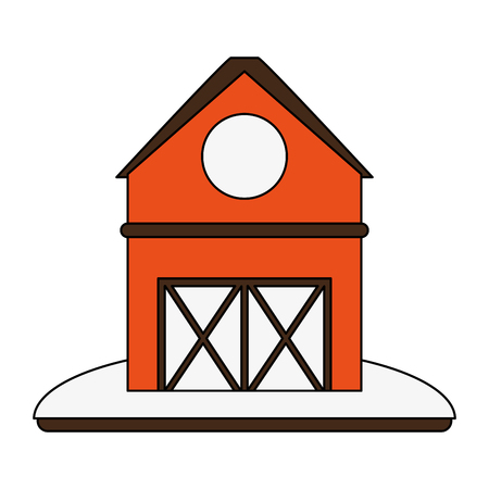 barn house or home icon image vector illustration design