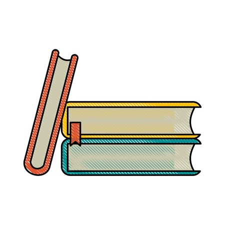 books pile icon image vector illustration design