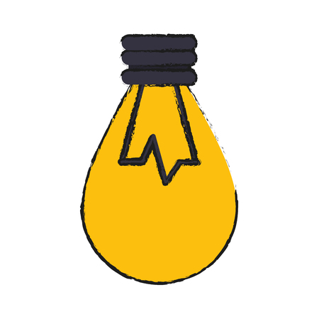 lit lightbulb icon image vector illustration design
