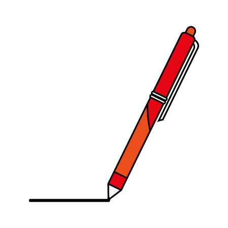 retractable: retractable pen icon image vector illustration design