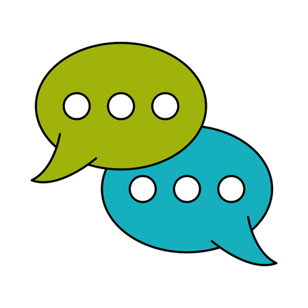 chat bubbles conversation  icon image vector illustration design Illustration