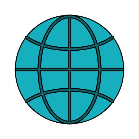globe grid: earth globe diagram icon image vector illustration design