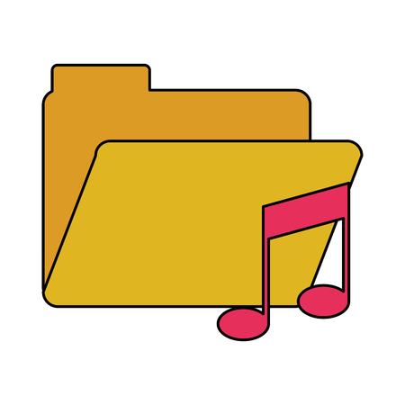 Music file folder icon image vector illustration design
