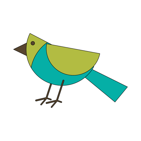 Bird geometrical shape icon image vector illustration design Illustration