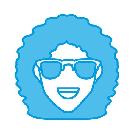 eyewear fashion: Woman with hat smiling cartoon icon vector illustration graphic design Illustration
