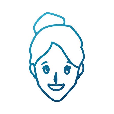 Woman smiling cartoon icon vector illustration graphic design
