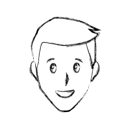 Adult man smiling icon