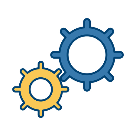Gears machinery pieces icon
