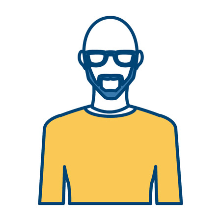Young man avatar icon Illustration