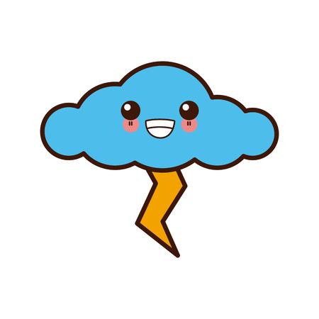 Rainy weather symbol icon