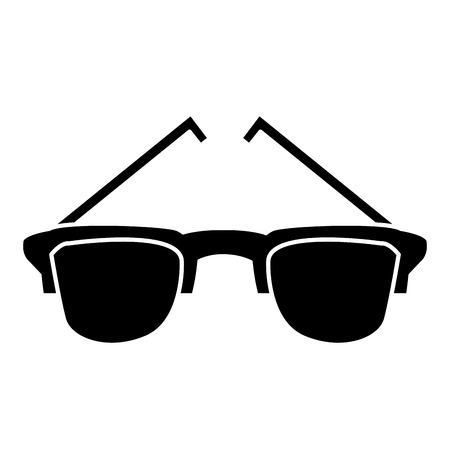 Sunglasses isolated symbol icon Illustration