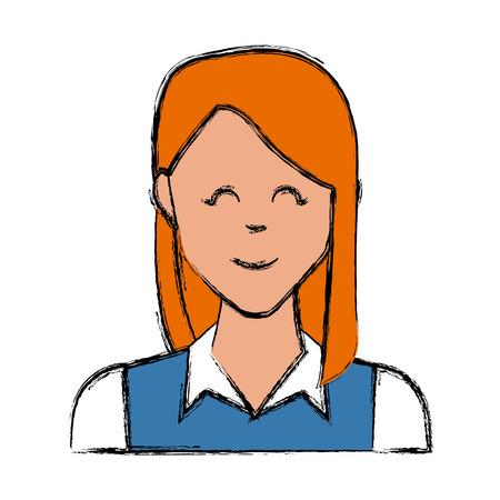 Woman smiling cartoon icon