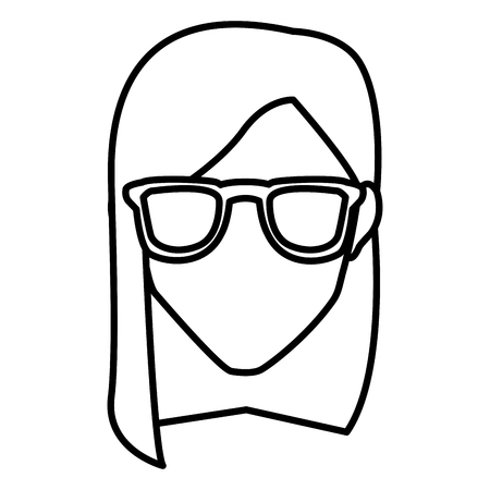 Woman with glasses icon vector illustration graphic design Ilustração