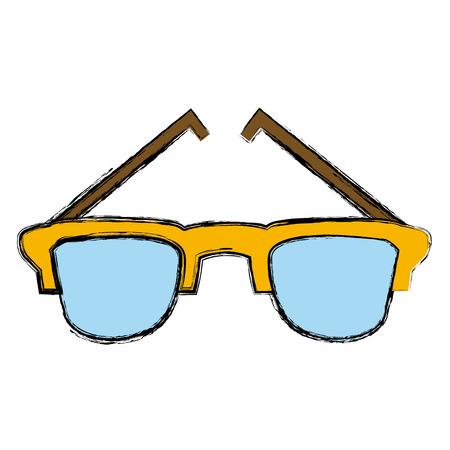 eyewear fashion: Sunglasses isolated symbol icon vector illustration graphic design Illustration