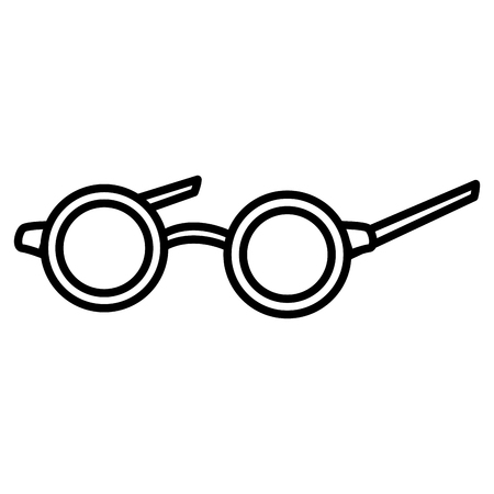 Old glasses isolated icon vector illustration graphic design Vector Illustration