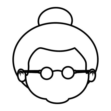 Mignon grand-mère dessin animé icône vector illustration design graphique Banque d'images - 87224160