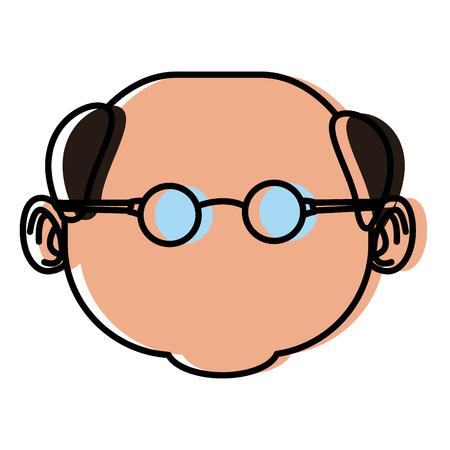 Cute grandfather cartoon icon vector illustration graphic design Illustration
