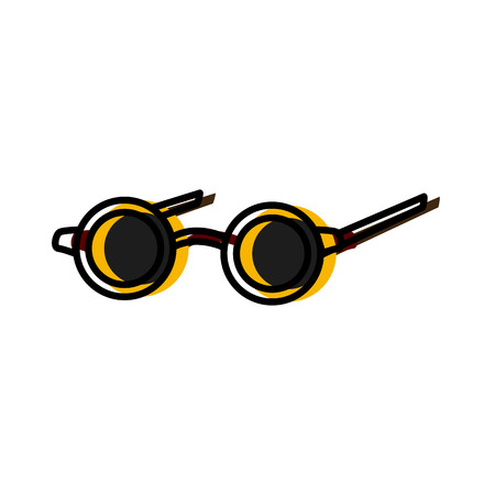 Old glasses isolated icon vector illustration graphic design