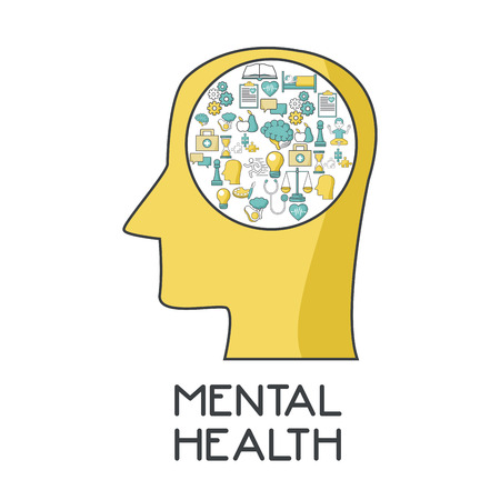 Mental health design icon illustration graphic design.