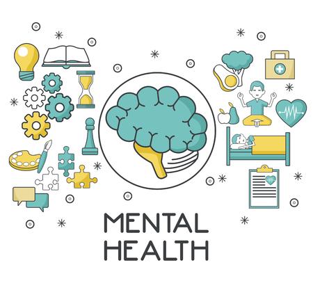 정신 건강 디자인 아이콘 벡터 일러스트 그래픽 디자인